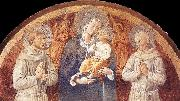 Madonna and Child between St Francis and St Bernardine of Siena dfg GOZZOLI, Benozzo